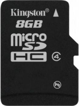 Карта пам'яті Kingston microSDHC 8 GB Class 4 (SDC4/8GBSP)
