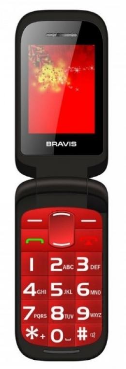 Мобільний телефон Bravis Clamp Red