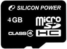 Карта пам'яті Silicon Power microSDHC 4 GB Class 4