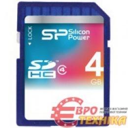 Карта пам'яті Silicon Power SDHC 4 GB Class 4