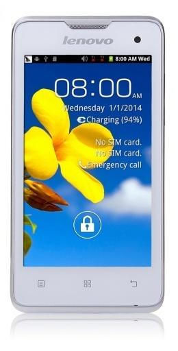 Смартфон Lenovo A396 White