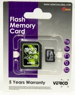 Карта пам'яті Verico microSDHC 16 Gb Class 4 (+ SD адаптер)