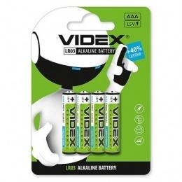 Батарейки Videx LR03/AAA 4 шт.