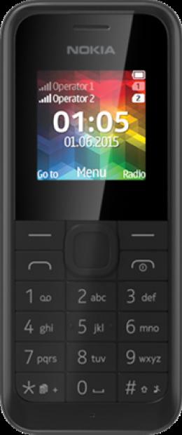 Мобільний телефон Nokia 105 Dual Sim Black