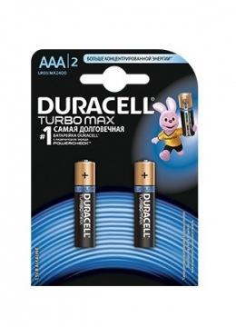 Батарейки Duracell Turbo Max AAA (LR03/MX2400) 2 шт.