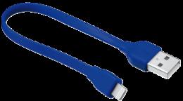 Плоский кабель Trust Urban Revolt Flat Lightning Cable 20 см Blue