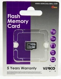 Карта пам'яті Verico microSDHC 16 Gb Class 4