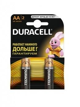 Батарейки Duracell AA (LR6/MN1500) 2 шт.