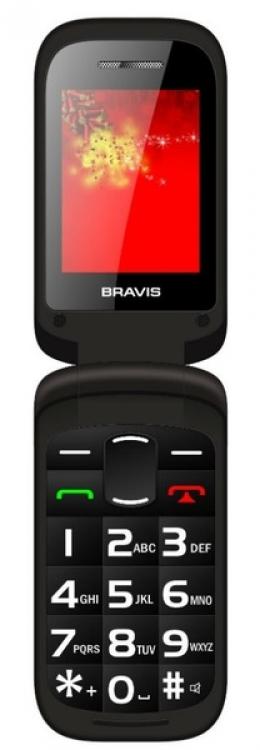 Мобільний телефон Bravis Clamp Black
