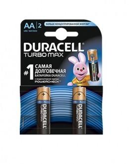 Батарейки Duracell Turbo Max AA (LR6/MX1500) 2 шт.