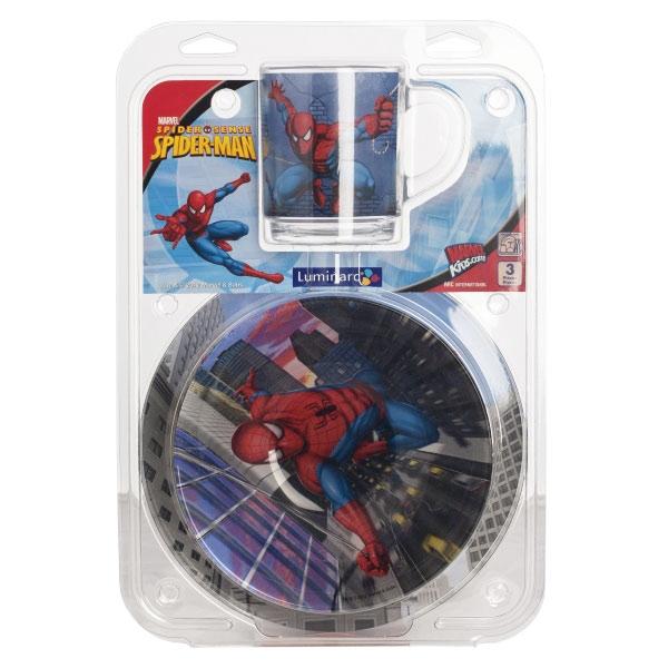 Набір дитячого посуду Luminarc Disney Spiderman Street Fights H4465  - фото 3.