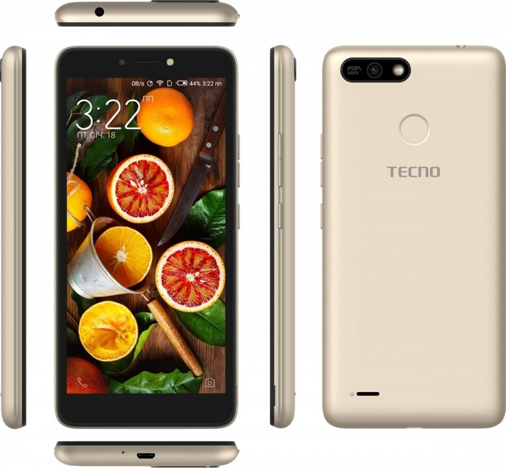Смартфон Tecno POP 2 Power (B1P) 1/16GB DS Champagne Gold повербанк в подарунок - фото 6.