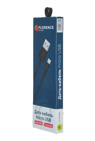 USB кабель Florence microUSB 1m 3A Black (FL-2200-KM) - фото 3.