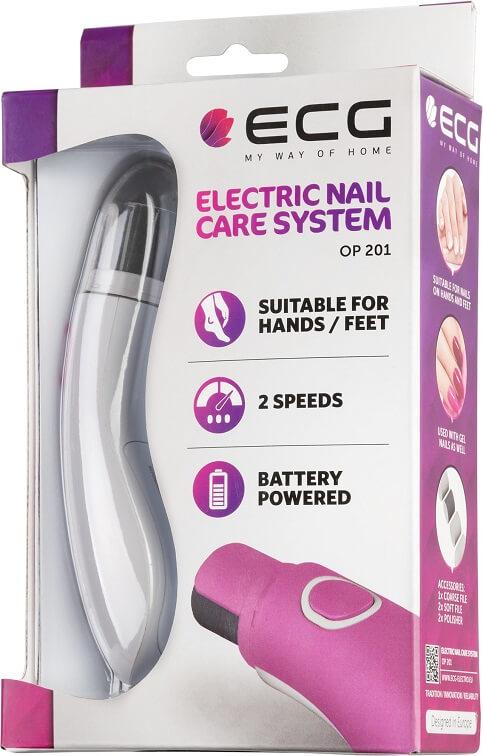 Електропилка для нігтів ECG OP 201 Pink - фото 5.