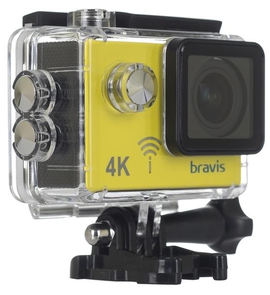 Экшн-камера Bravis А3 Yellow - фото 5.