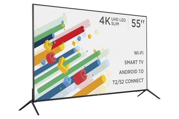 Smart телевізор Ergo LE55CU6530AK - фото 3.