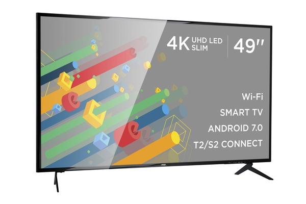 Smart телевізор Ergo LE49CU6520AK - фото 3.