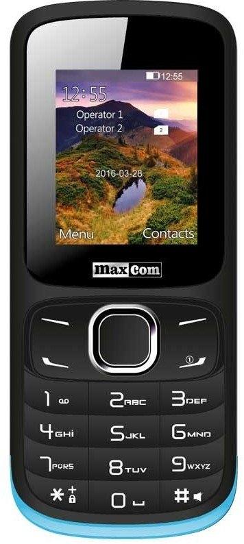 Мобільний телефон Maxcom MM-128 Black-Blue - фото 3.