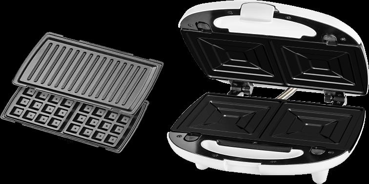 Бутербродниця ECG S 399 3в1 White - фото 5.