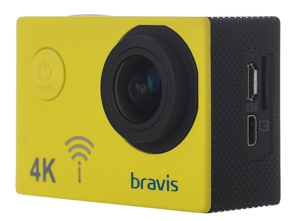 Экшн-камера Bravis А3 Yellow - фото 4.