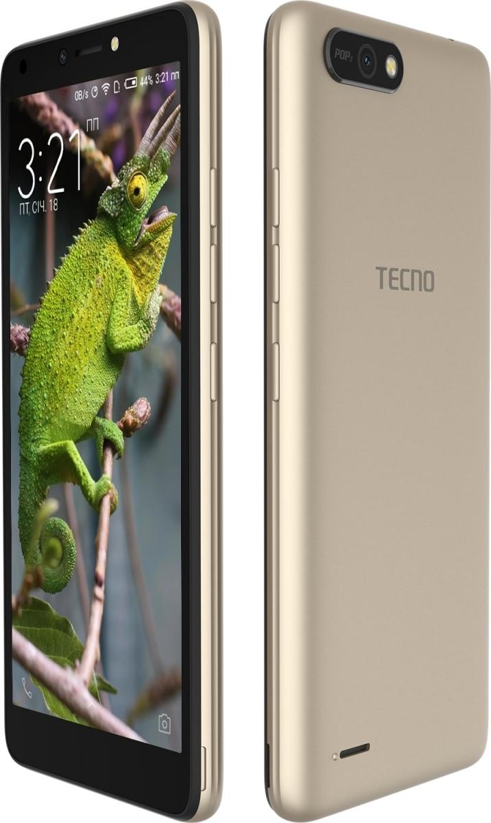 Смартфон Tecno POP 2 (B1) Dual Sim Champagne Gold + подарунок - фото 3.