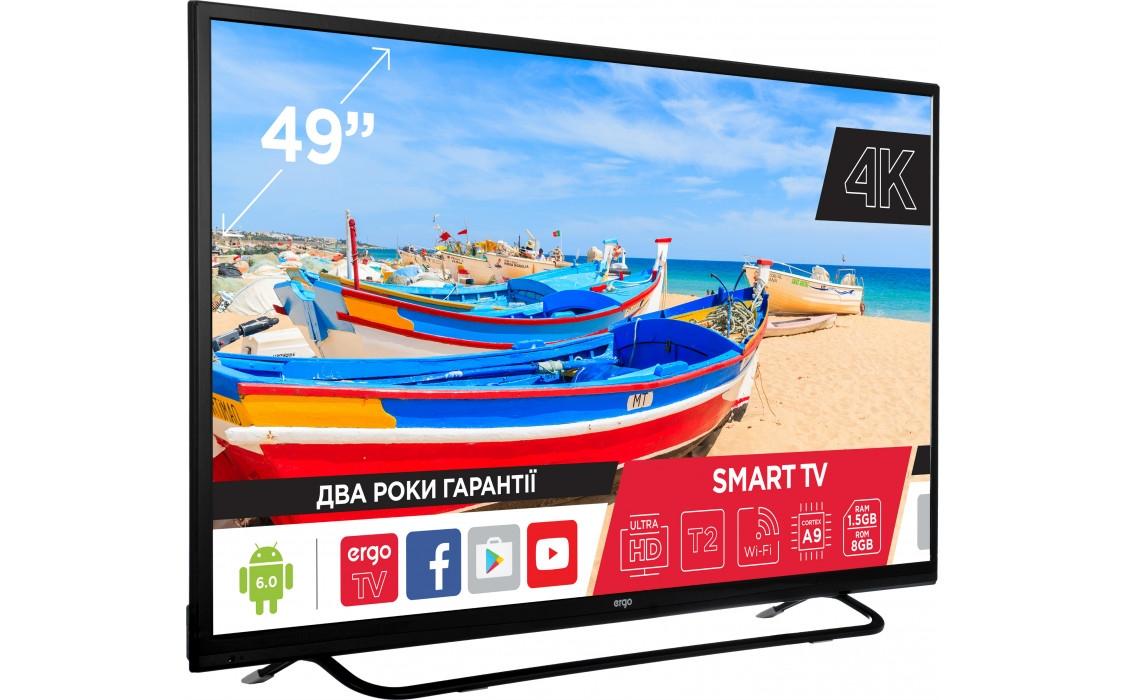 Smart телевізор Ergo 49CU6500AK - фото 3.
