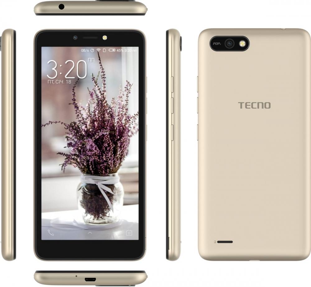 Смартфон Tecno POP 2 (B1) Dual Sim Champagne Gold + подарунок - фото 6.