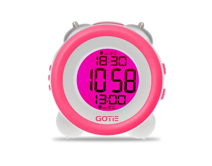 Електронний будильник GOTIE GBE-200R рожевий - фото 3.