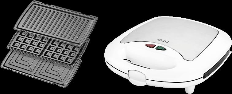 Бутербродниця ECG S 399 3в1 White - фото 4.