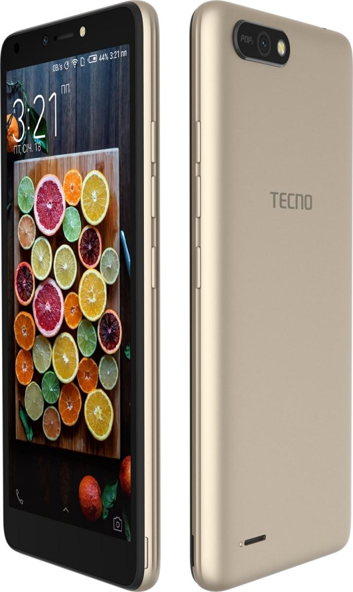 Смартфон Tecno POP 2 (B1) Dual Sim Champagne Gold + подарунок - фото 4.
