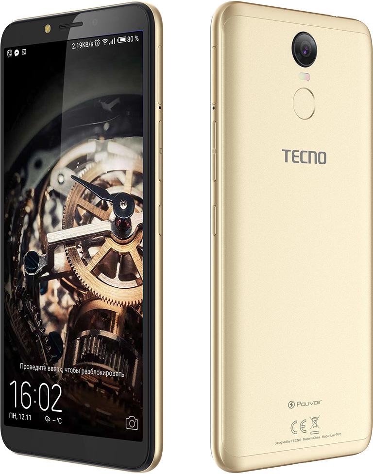 Смартфон Tecno Pouvoir 2 Pro 3/32GB (LA7 pro) DualSim Champagne Gold - фото 4.