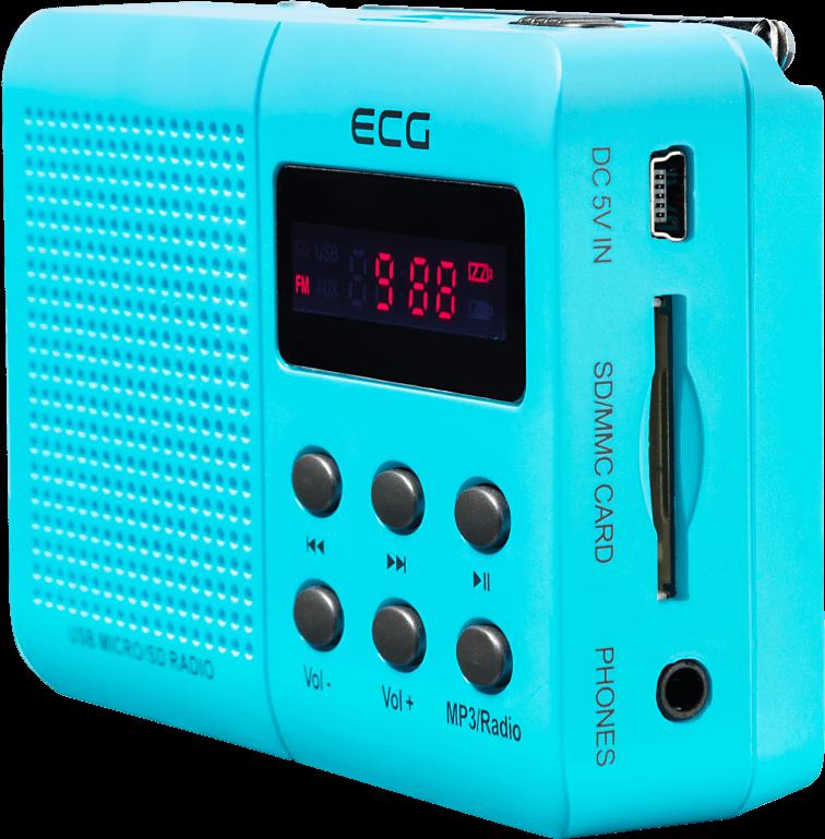 Радіо ECG R 155 U Blue - фото 4.