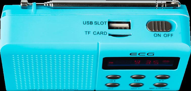 Радіо ECG R 155 U Blue - фото 5.