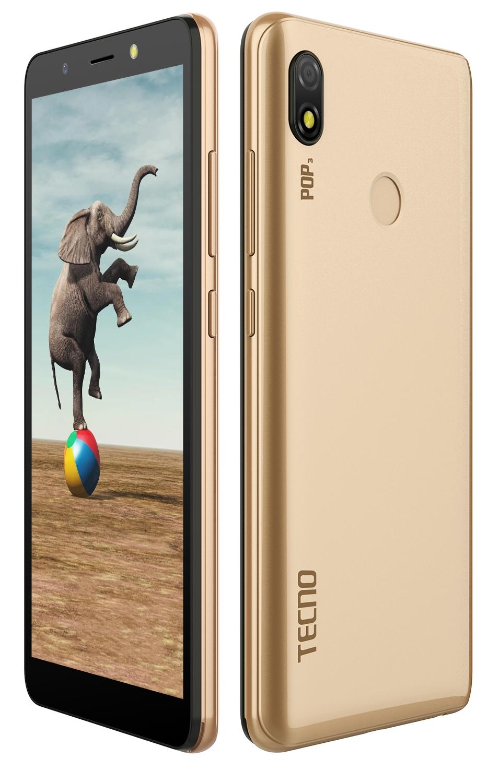 Смартфон Tecno Pop 3 (BB2) DualSim Champagne Gold - фото 6.