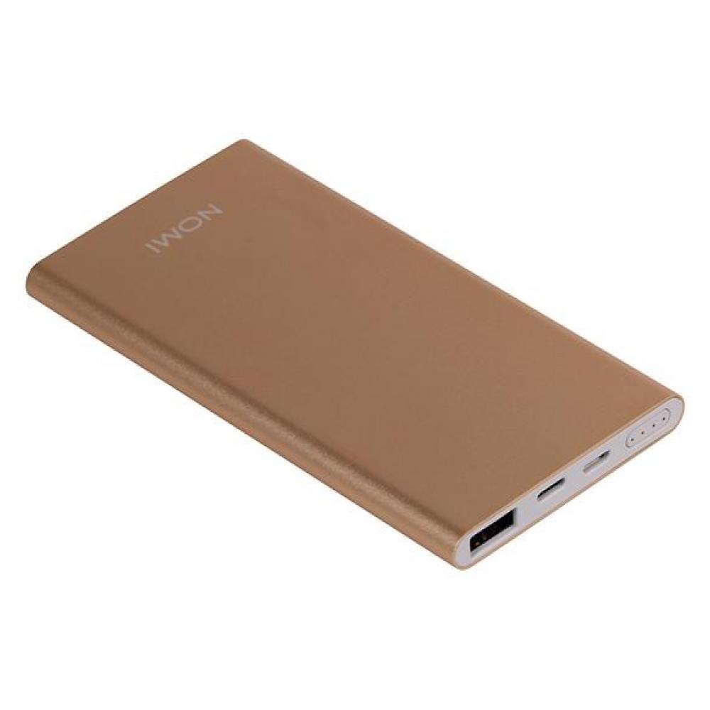 Зовнішній акумулятор Nomi E050 5000 mAh Gold - фото 3.