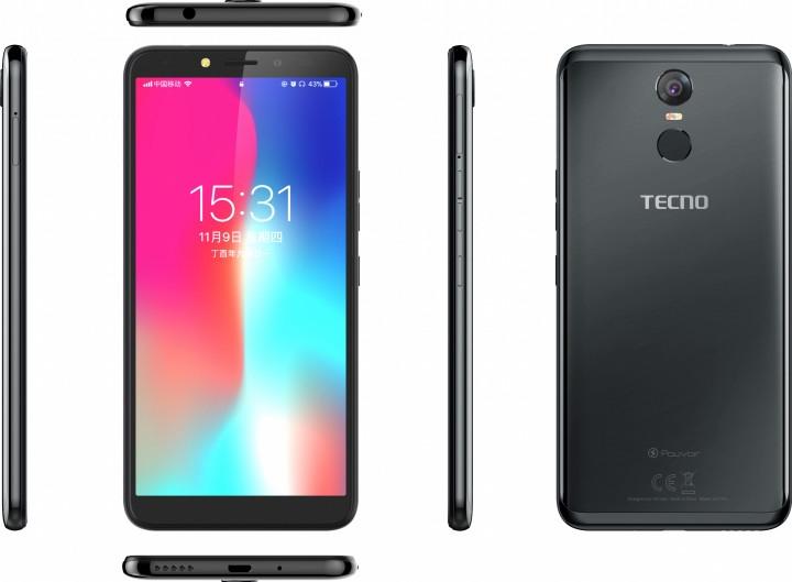 Смартфон Tecno Pouvoir 2 Pro (LA7 pro) Black  - фото 4.