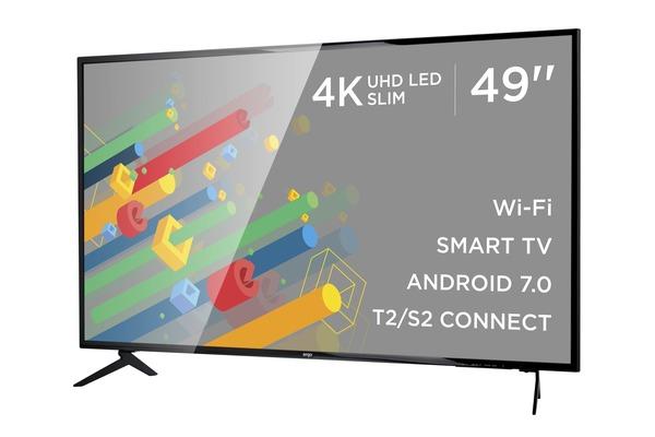 Smart телевізор Ergo LE49CU6520AK - фото 4.