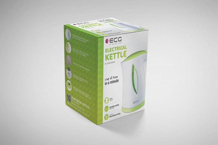 Чайник ECG RK 1758 Green - фото 6.