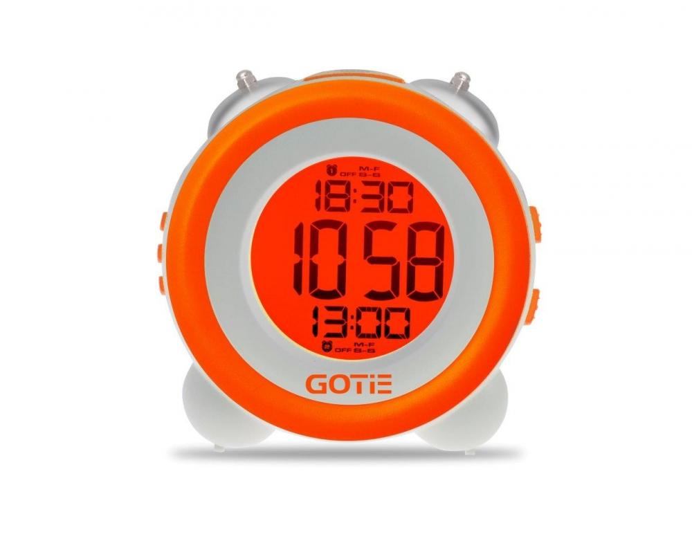 Електронний будильник GOTIE GBE-200P помаранчевий - фото 3.