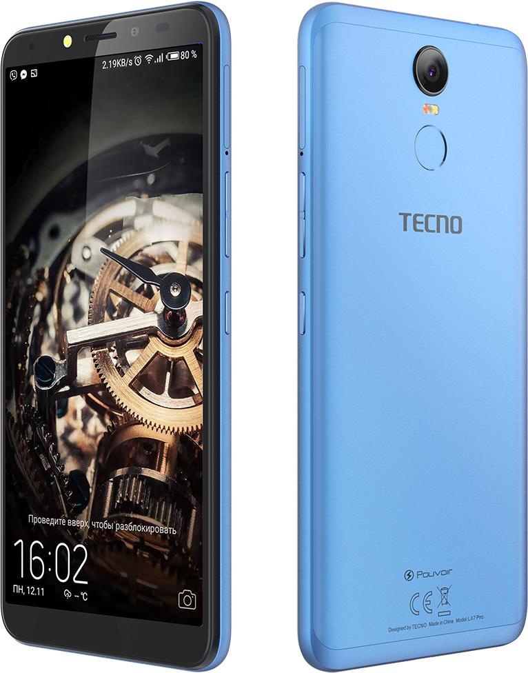 Смартфон Tecno Pouvoir 2 Pro 3/32GB (LA7 pro) DualSim City Blue - фото 4.