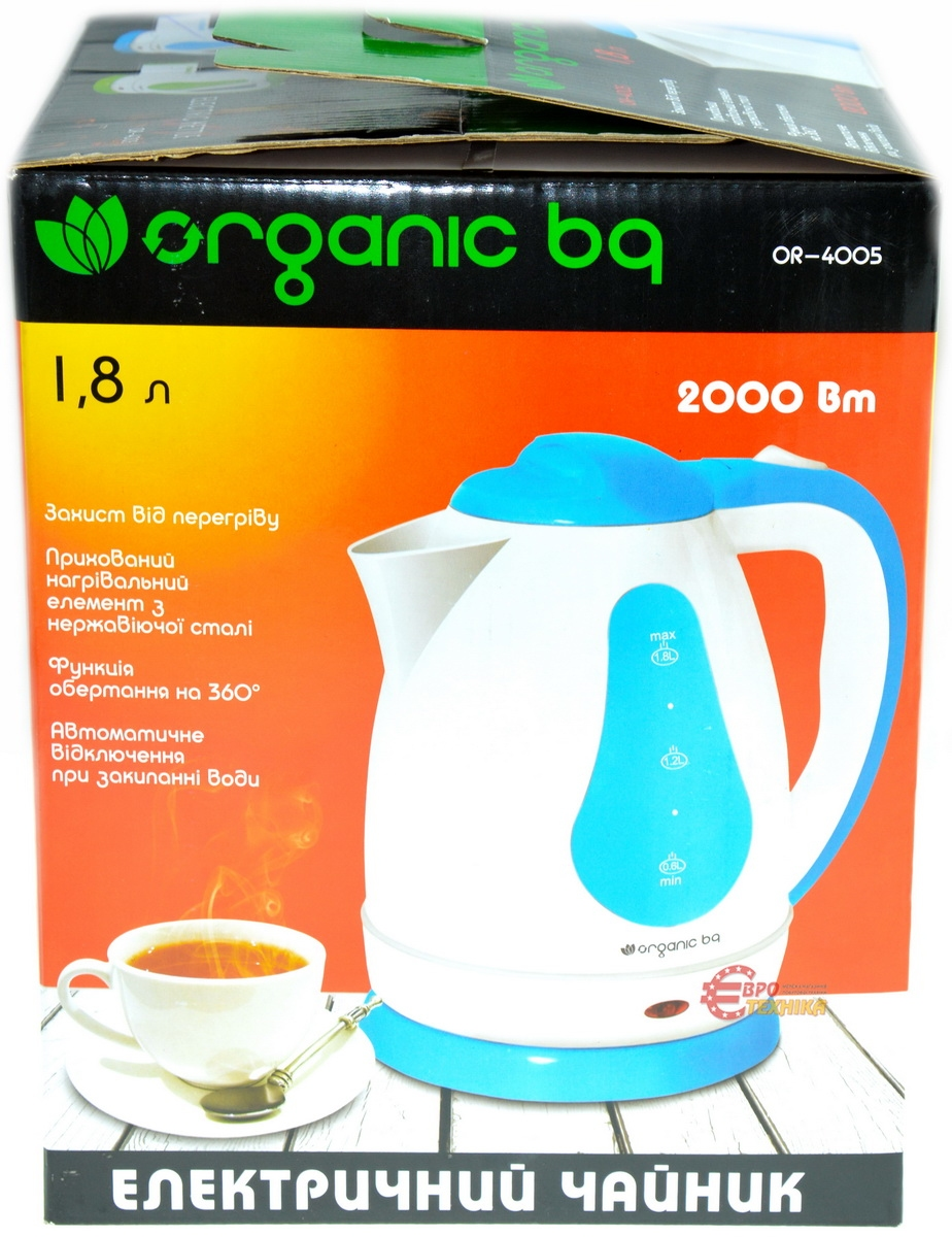 Чайник Organic bq OR-4005 White-Blue - фото 4.