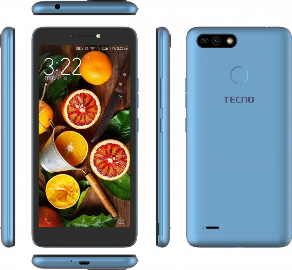 Смартфон Tecno POP 2 Power (B1P) DualSim City Blue + подарунок - фото 6.
