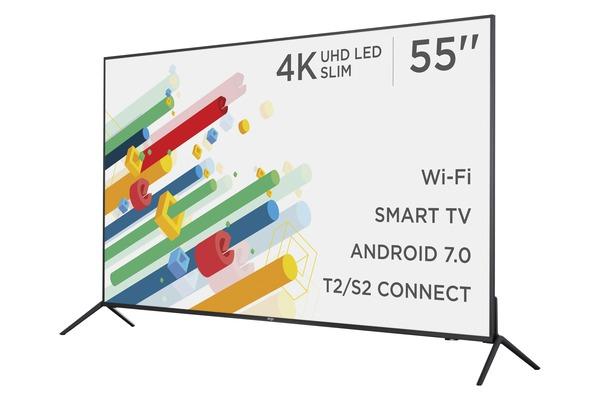 Smart телевізор Ergo LE55CU6530AK - фото 4.