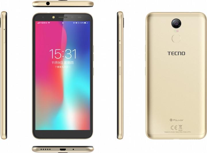 Смартфон Tecno Pouvoir 2 Pro (LA7 pro) Gold + подарунок - фото 4.