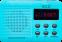 Радіо ECG R 155 U Blue - фото 3.