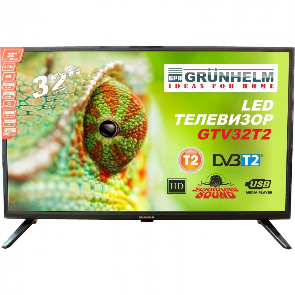 LED телевізор Grunhelm GTV32T2 - фото 2.
