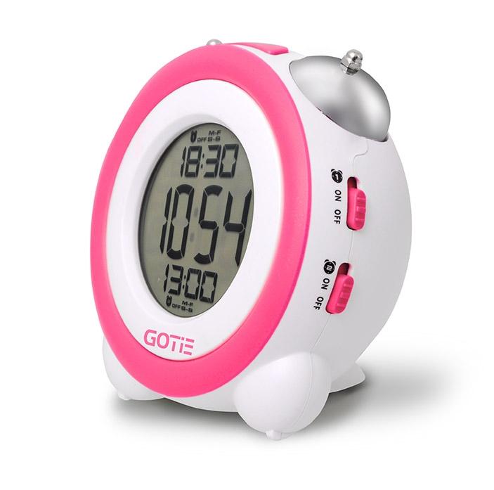 Електронний будильник GOTIE GBE-200R рожевий - фото 2.