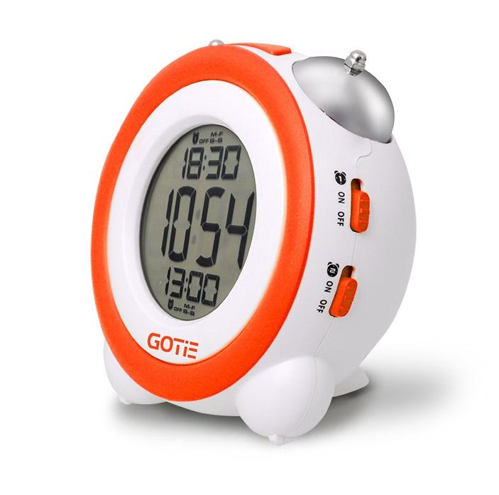 Електронний будильник GOTIE GBE-200P помаранчевий - фото 2.