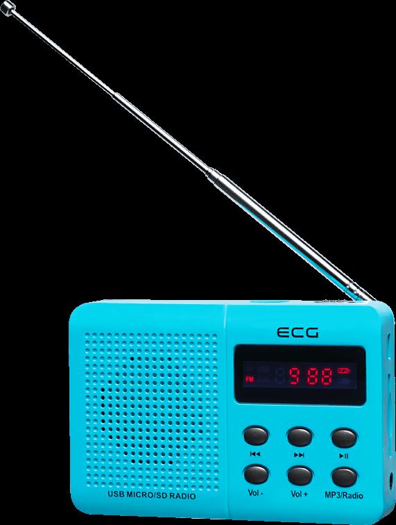 Радіо ECG R 155 U Blue - фото 2.