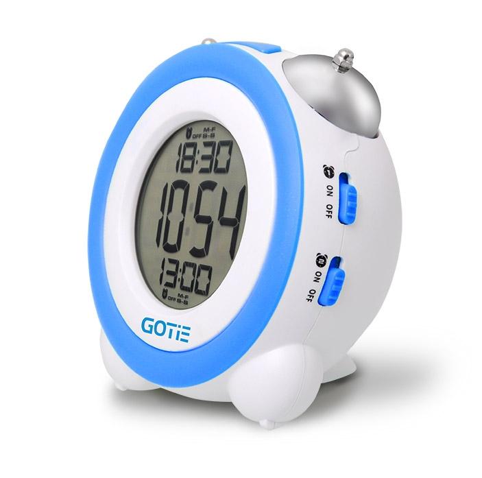 Електронний будильник GOTIE GBE-200N синій - фото 2.